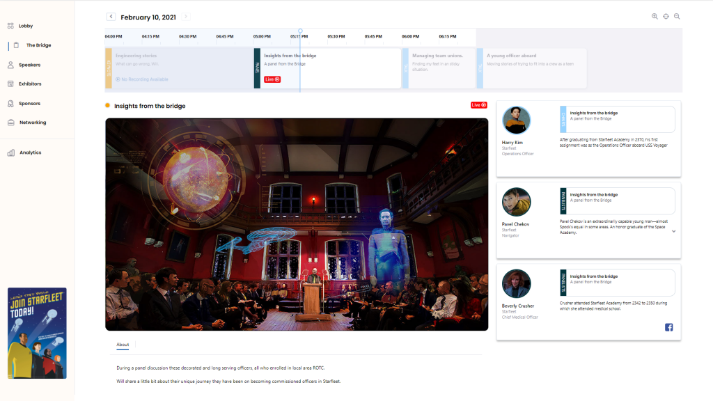 Virtual Event and conference platform